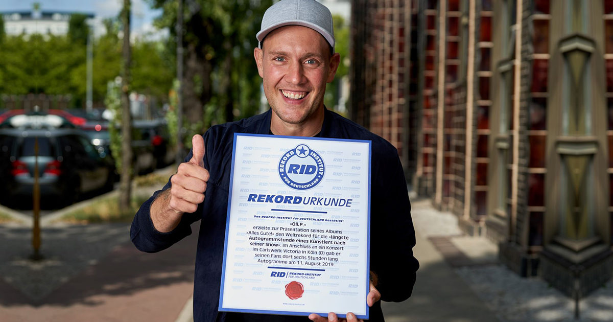 Weltrekord für längste Autogrammstunde durch RID bestätigt & bester Chart-Entry seit 20 Jahren!