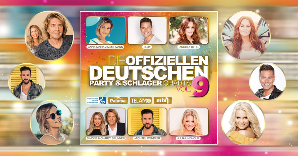 """""""Die offiziellen deutschen Party & Schlager Charts Vol.9"""" - Ab dem 09.02.2018 überall im Handel & als Download erhältlich"""